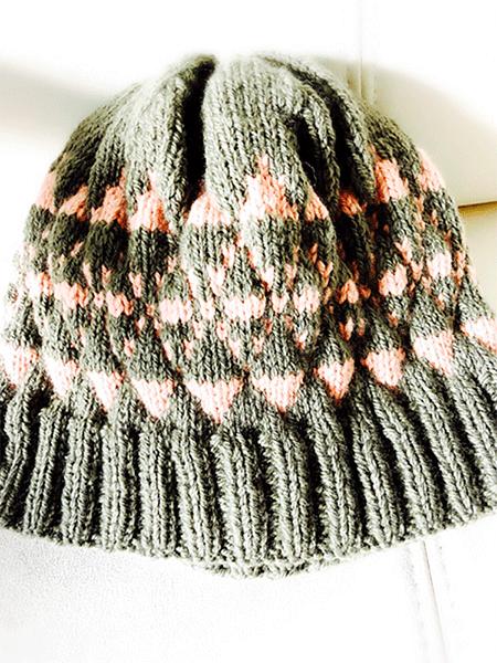 編みこみニット帽